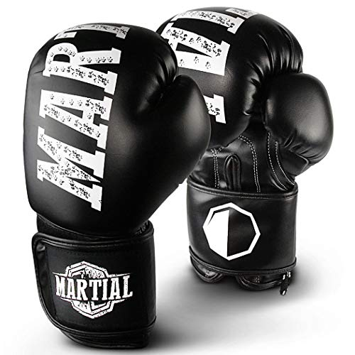 Martial boxing gloves made of the best material for long durability! Kickboxing gloves for martial arts, MMA, sparring and boxing with optimal shock absorption - incl ...