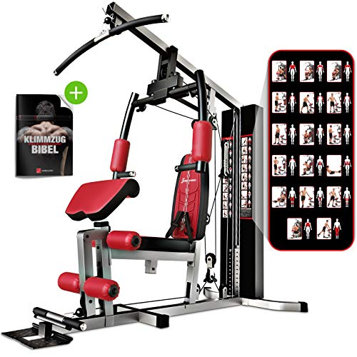 Sportstech Unique 45in1 Premium Power Station HGX100 / HGX200 for countless training variants Multifunction Homegym with Stepper & LAT-Zugturm, Robust ...