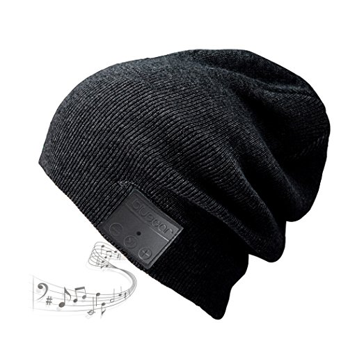 Bluetooth Beanie BLUEEAR Washable Leisure Bluetooth Baggy Hats Headphones with acoustic stereo speakers and speakerphone answering and up to ...