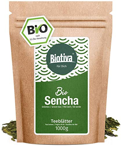 Sencha Green Tea Organic 1000g - Top Sencha - 1kg top price - Mild, slightly grassy, fine dry and floral - Fairbiotea certificate - Bottled and checked in ...