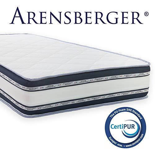 Arensberger Relaxx 9 Zonen Wellness Matratze mit 3D-Memory Foam, 90cm x 200cm, Höhe 25cm, Raumgewicht 50 kg/m³, DREI Schichten: Kaltschaum + Visco Smart Schaum +...