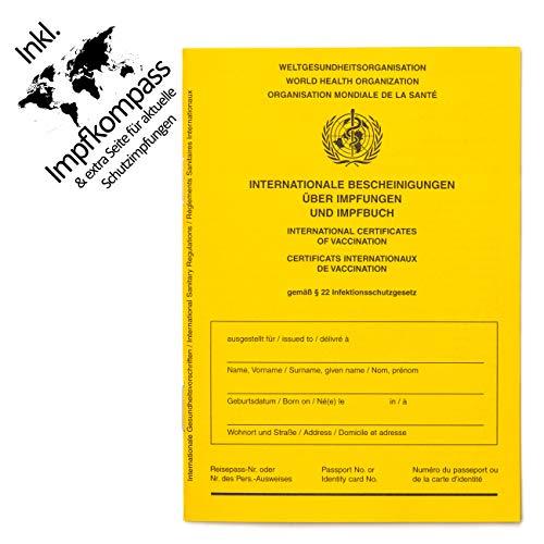 Impfpass Standard, Neue Ausgabe Version 2020-12 mit Extraseite für aktuelle Schutzimpfungen, inkl. Impfkompass, Impfausweis, Impfbuch, internationaler Impfpass f....