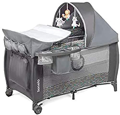 Lionelo Sven Plus 2 in 1 Baby Bett Laufstall Baby ab Geburt bis 15 kg Wickelauflage Moskitonetz luftige Seitenwände mit Seiteneingang Tragetasche zusammenklappbar...