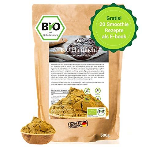 BIO-hamppujauho Saksasta 500g, hampunsiemenjauho vegaani, canabis sativa, vaihtoehto hampunproteiinille