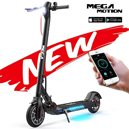 Mega Motion E-Scooter Folding Electric Scooter Scooter Speed Adult to 30 Km / h 8.5 Inch Inflatable LCD Display Portable Front and Rear ...