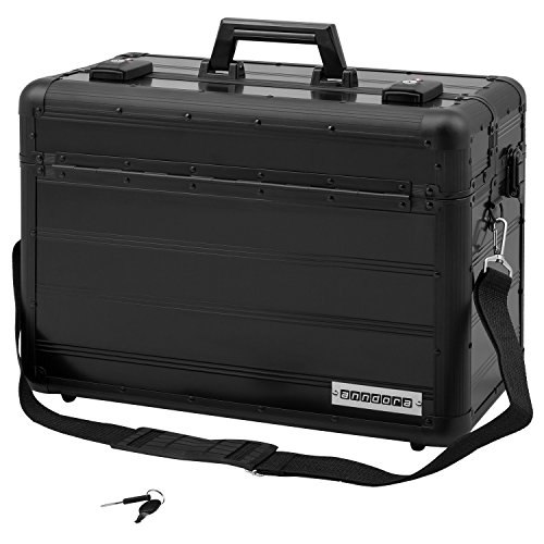 Anndora Pilot Case Business Case TSA Locks Aluminum Surface Black