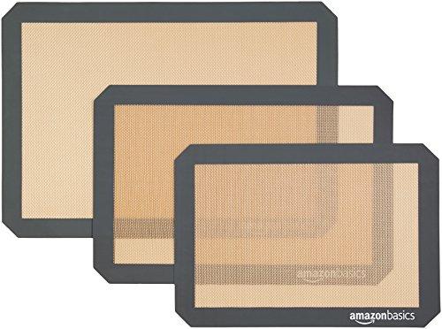 AmazonBasics - Backmatte aus Silikon, 3 Stück