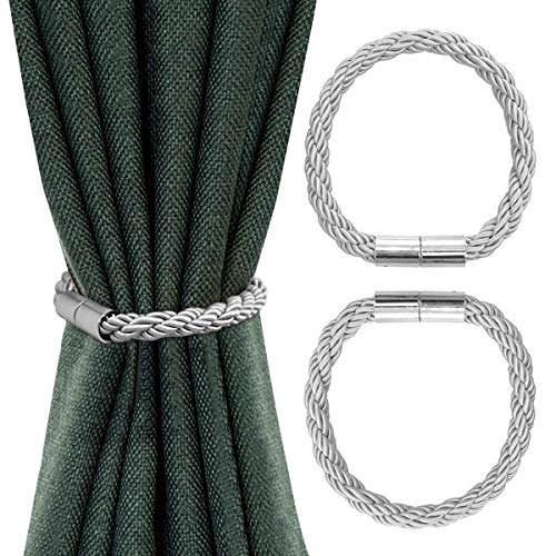 Queta magnetic curtain tieback, curtain holder 2 pieces curtain holder 50 cm curtain binder Magnetic curtain holder for home and office decoration