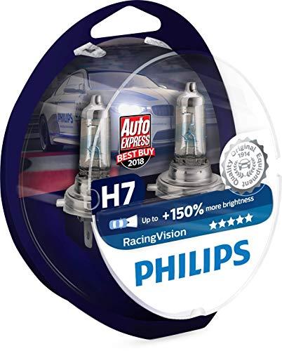 Philips RacingVision +150% H7 Scheinwerferlampe 12972RVS2, Doppelset