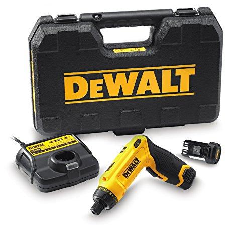 DeWalt Akku-Knickschrauber (7.2 V, 1.0Ah, Zwei-Positions-Handgriff (Pistolengriff und Stabgriff), 16-stufiges Drehmoment, Diodenring mit zwei LEDs, inkl. zwei Li-Ion...