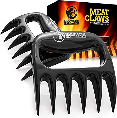 Mountain Grillers Krallen-Hochwertige Meat Claws für amerikanisches BBQ Pulled Pork-Fleischkrallen aus Kunststoff zum Zerteilen-Spülmaschinenfeste...