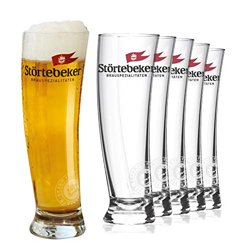Störtebeker Weizenbiergläser 0,5 l   6 Weizengläser im Sydney Segelglas Design   Weissbiergläser 0,5l   Störtebeker Gläser als tolles Bier Geschenk