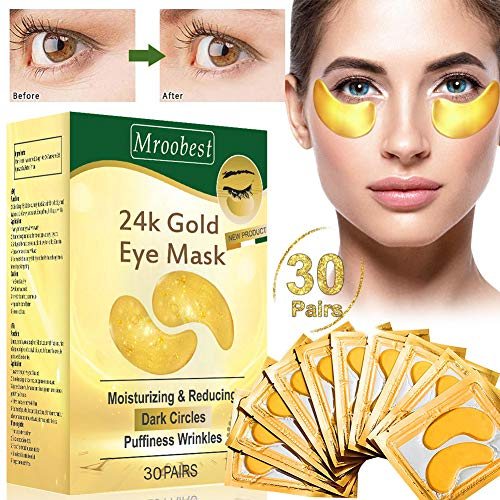 Eye pads, eye mask, eye mask collagen, anti aging eye pads with hyaluronic eye care, anti-fif eye pads, moisturizing, remove bags, dark circles & ...
