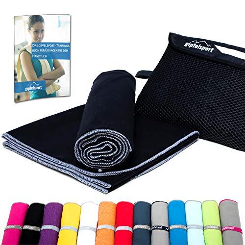 Mikrofaser Handtuch Set - Microfaser Handtücher für Sauna, Fitness, Sport I Strandtuch, Sporthandtuch I 1x S(80x40cm) I Anthrazit