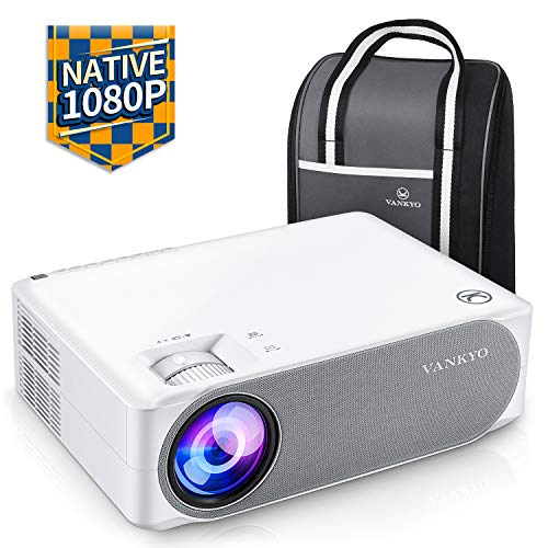 Beamer 6800 lumens, Native 1080p projector Full HD, VANKYO Performance V630 projector home cinema, with ± 50 ° electronic correction, supports HDMI USB TV Stick Xbox ...