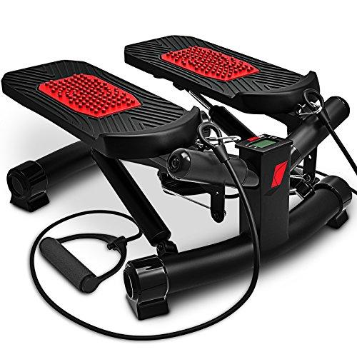 Sportstech 2in1 Twister Stepper mit Power Ropes - STX300 Modell 2019 Drehstepper & Sidestepper für Anfänger & Fortgeschrittene, Up-Down-Stepper mit...