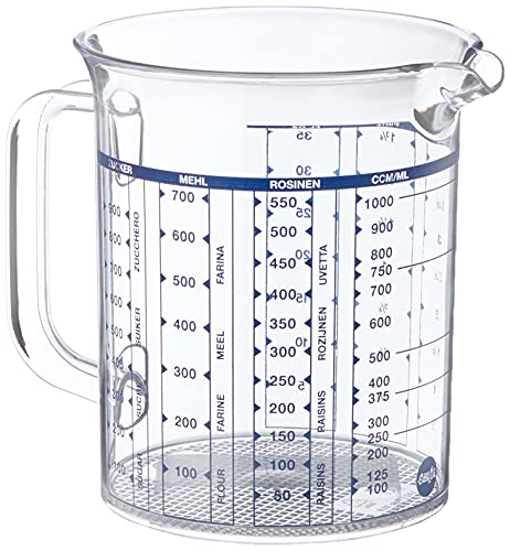 Emsa 2217100000 Messbecher, Superline, Füllvolumen 1 Liter, Transparent, Kunststoff, Maßkanne