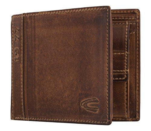 camel active men's Melbourne coin purse, brown, 12,5x2,5x10 cm