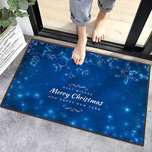 Sunshine smile Teppich Anti Rutsch Unterlage,40 * 60 cm,Weihnachtsteppich,Weihnachten Area Rug,Türmatte,Kurzflor Fußmatte,Teppich Wohnzimmer,rutschfeste...