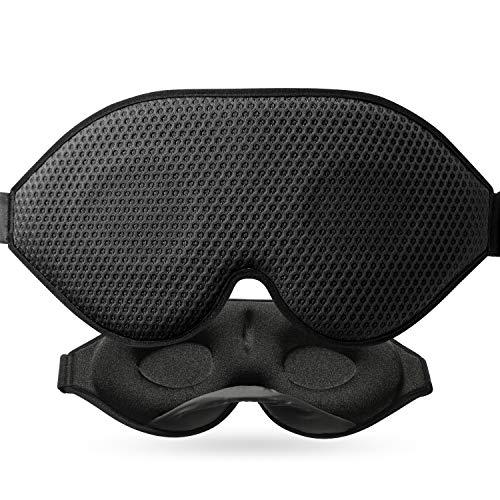 3D-nukkuva naamio absoluuttiseen pimeyteen, 2020 äskettäin kehitetyt naisten ja miesten nukkumislasit, hengittävät kudoksen tuuletusaukot, silmänaami ...