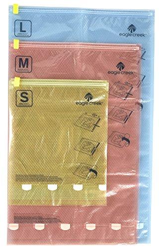 Eagle Creek Kompressionsbeutel I Pack-It Compression Sac Set S/M/L für die Reise oder für Zuhause I Koffer- und Schrankorganisation