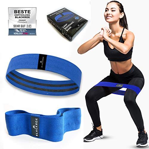 BLACKROX Fitnessbänder Loop Band - Starkes und breites Band aus Stoff rutschfest Widerstandsbänder für Intensive Workouts für Krafttraining, Bodybuilding,...