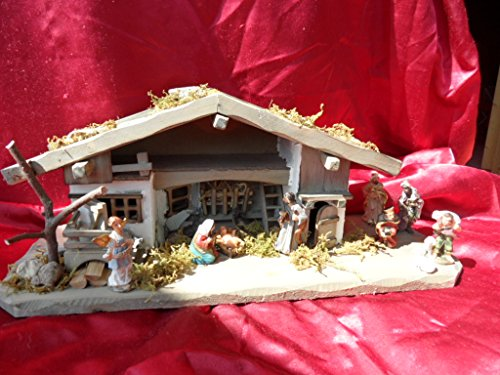 Arbrikadrex Verschiedene Weihnachtskrippen Holz Schreinerarbeit Douglasienholz Handarbeit Krippe mit und ohne Figuren Krippen-stall Weihnachten (Weihnachtskrippe,...