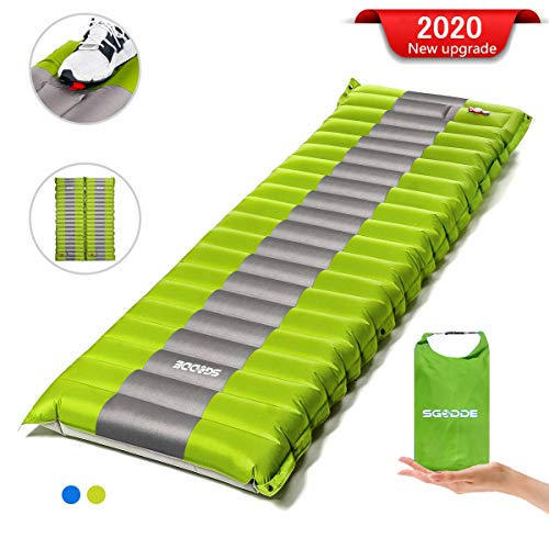 SGODDE Camping Mat Self-inflating, hand press Inflatable, lightweight backpack mat for hikes for hiking while traveling, long-lasting waterproof air mattress ...