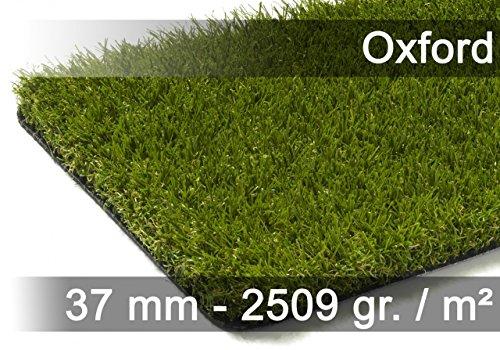exteriortrend Luxus Kunstrasen Rasenteppich Oxford Grün in 19 Größen