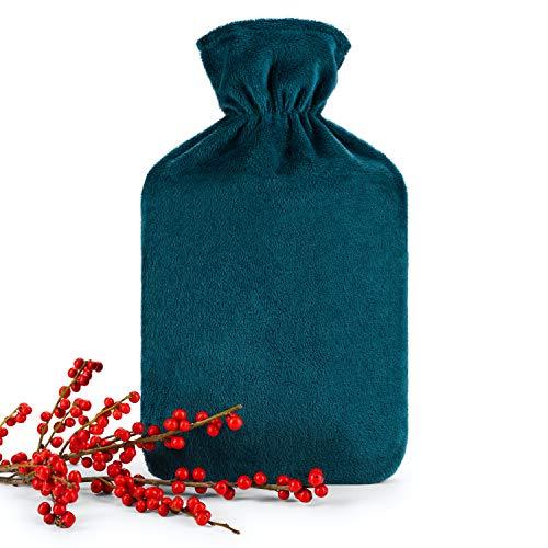 Blumtal-kuumavesipullo pehmeällä kannella - 1,8 litran kuumavesipullo, sänkypullo, kuumavesipullo, bensiini
