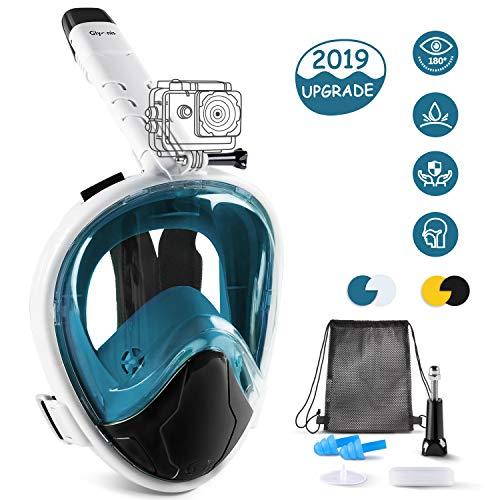Glymnis Tauchmaske Schnorchelmaske Easybreath Faltbare Vollmaske mit 180° Sichtfeld Anti-Fog und Anti-Leck Technologie für Alle Erwachsene und Kinder L/XL...