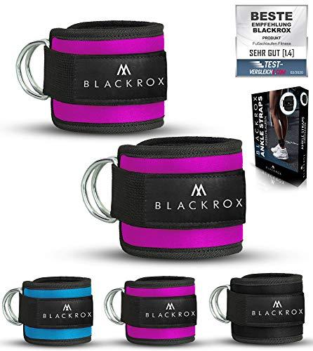 BLACKROX Fußschlaufe Kabelzug - Vergleichssieger - Ankle Straps - Training - Sport Gewichtsmanschette - Windsurfen - Damen & Herren Fitness Training - Fußfesseln -...
