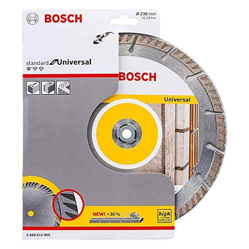 Bosch Professional Diamanttrennscheibe Standard for Universal (Beton und Mauerwerk, 230 x 22,23 mm, Zubehör Winkelschleifer)