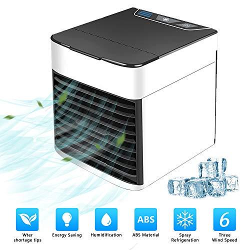 ZEHNHASE Mobile Klimaanlage, Klimageräte Ventilator Luftbefeuchter Luftreiniger Aromatherapie USB Mini Persönlicher Luftkühler 3 Geschwindigkeiten 7 Farben LED...