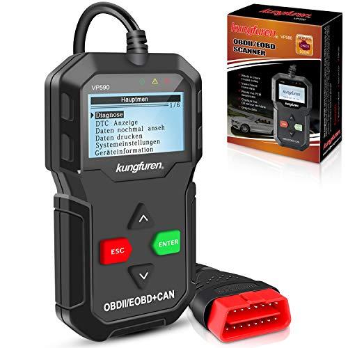 kungfuren OBD2 Diagnosegerät klassisch verbesserter Universal USB Kabel Automotor Fehler-Code Scanner Diagnose Scan Werkzeug für Alle OBDII Protokoll