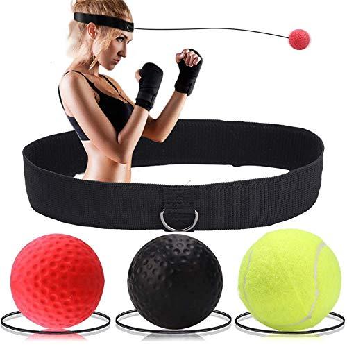 Soulpala Boxen Training Ball Reflex Fightball,Punch Boxing Ball mit Kopfband,Boxen- Praktische Ausbildung im Studio oder im Freienfür Geschwindigkeits Reflexe...