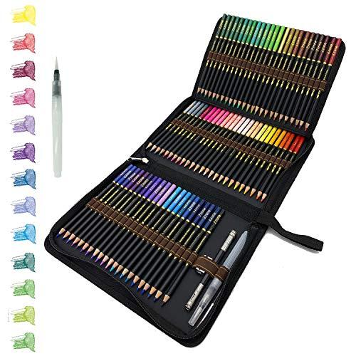 tvfly 72 Professionelle Aquarell Bleistifte, Aquarellstifte Set mit Premium Black Zipper Case Einfach zu lagern und zu schützen Buntstifte Ideales Set für...