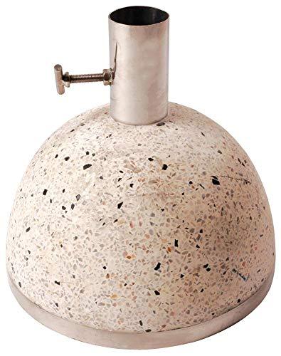 Esschert Design Sonnenschirmständer, Sonnenschirmfuß granito in weiß, 11,5 kg, Ø Rohr innen: 3,5 cm, Fuß Ø ca. 25 cm