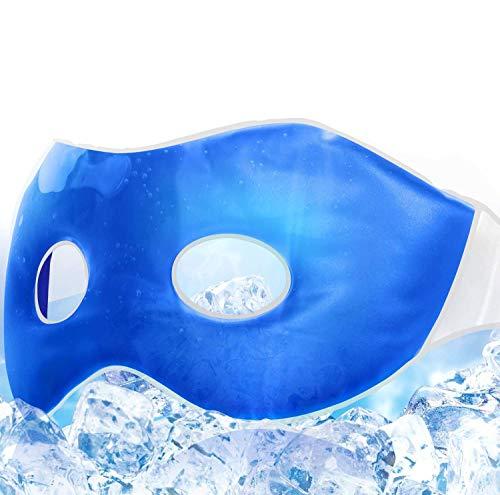 Unimi Gel-Schlafmaske für Damen & Herren, Innovative Kältetherapie-Augenmaske, Kühlende Augenabdeckung für Kopfs.