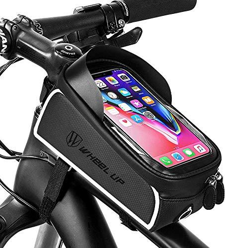 BAONUOR Fahrrad Rahmentasche Fahrrad Handytasche für iPhone 7 Plus/6s Plus/6 Plus/Samsung s7 Edge andere bis zu 6 Zoll Smartphones, Wasserabweisende Fahrrad...