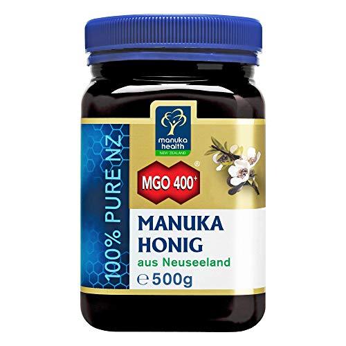 Manuka Health - Manuka Honey MGO 400 + 500g - 100% puhdasta Uudesta-Seelannista, varmennetulla metyyliglyoksaalipitoisuudella