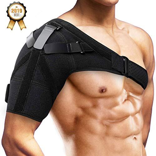 Schulterbandage Schulter Unterstützung Bandage Verstellbare, SGODDE für Verletzungen,Schulterschmerzen, arthritische Schultern, Neopren Schulterwärmer, für...