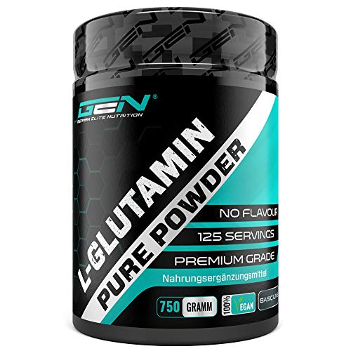 L-Glutamin Pulver - 750 g - Premium: Reines & ultrafeines L-Glutamine ohne Zusätze - 100% micronized L-Glutamine Aminosäure - Unlflavoured Neutral - Laborgeprüft...