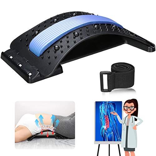 Jeteven Rückenstrecker Back Stretcher Mit Magnetfeldtherapie Rückenmassage Unterstützung Rückendehner Rückentrainer zur Rückenschmerzlinderung...