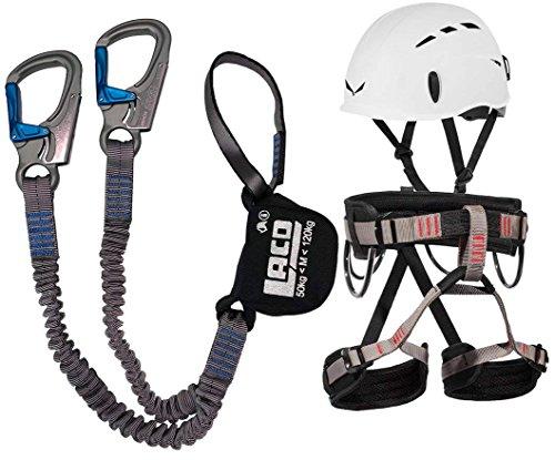 LACD Klettersteigset Ferrata Pro Gurt Start + Helm Salewa Toxo (L)