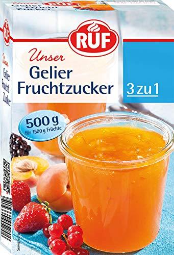 RUF Gelier-Fruchtzucker 3 zu 1 ohne raffinierten Zucker für selbstgemachte Marmelade, Konfitüre oder Gelee, (1 x 500 g)
