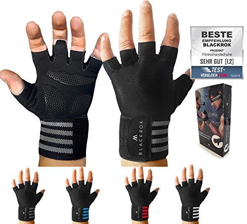 BLACKROX Trainingshandschuhe Vergleichssieger Fitness Handschuhe mit Handgelenkstütze Herren Damen, Handschuhe für Kraftsport, Fitnesshandschuhe, Bodybuilding...