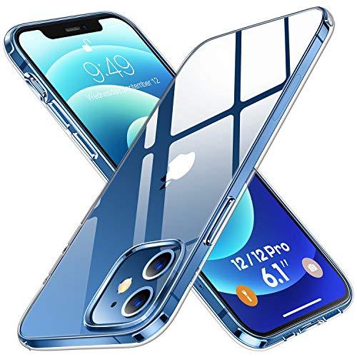 Humixx Kristallklar Handyhülle Kompatibel mit iPhone 12   iPhone 12 Pro Hülle [13X Anti Gelb] [Real 5.0 Schutz nach Militärstandard] Kratzfest Case Unterstützt...