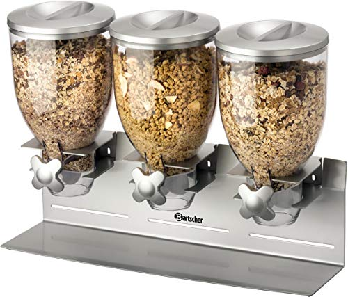 Bartscher 500379 Kunststoff 3-Wege-Getreidespender, Silber