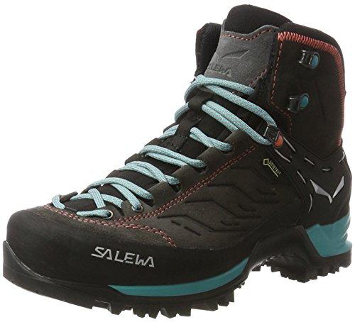 Salewa Damen WS Mountain Trainer Mid Gore-TEX Trekking-& Wanderstiefel, Magnet/Viridian Green, 41 EU